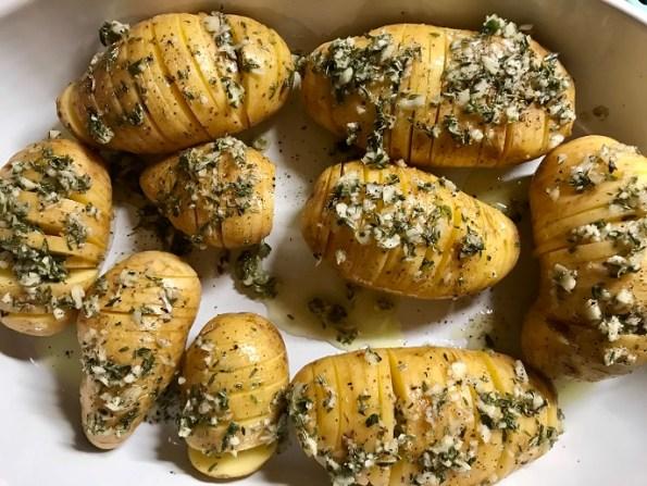 Hasselback aardappels