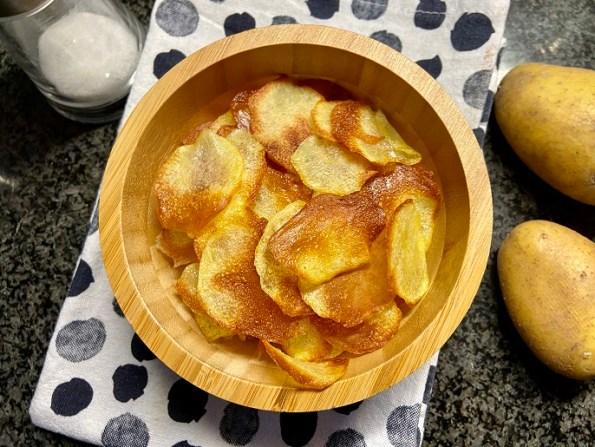 Aardappel chips uit de oven