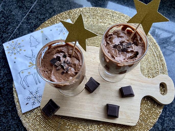 Chocolademousse, zelfgemaakt de allerlekkerste.