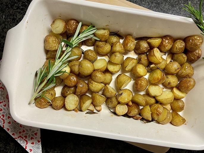 Krieltjes met rozemarijn en knoflook uit de oven