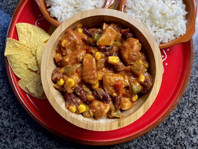 Mexicaanse kipschotel