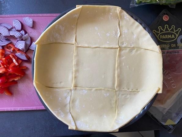 Italiaanse quiche met parmaham en courgette (3)