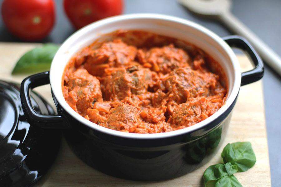 Italiaanse gehaktballetjes in tomaten-mascarponesaus