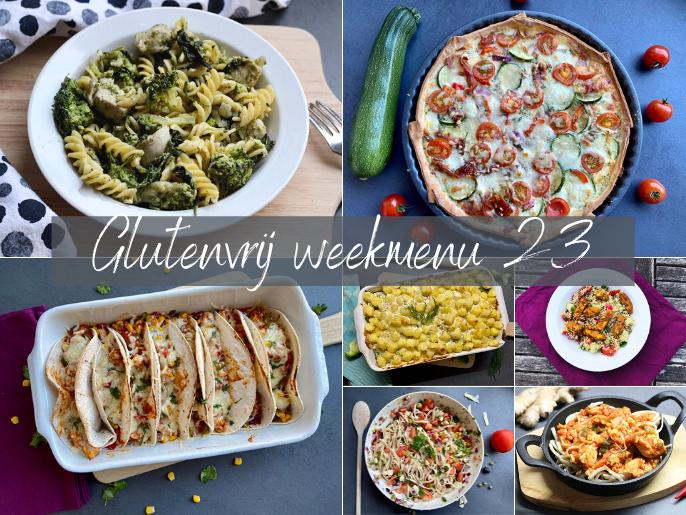 Glutenvrij weekmenu 2021-23