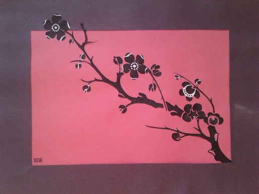 Plum Blossom Paper Art