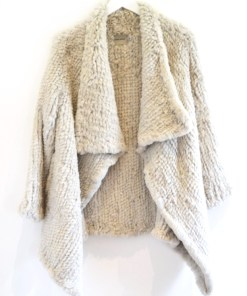 Sheared Coat light grey