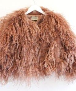 ostrich jacket dusty pink