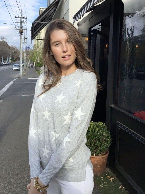 cotton cashmere star sweater