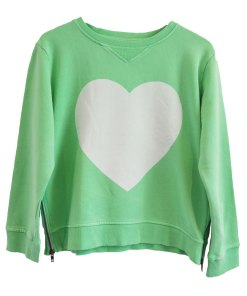 Zip Sweater green heart