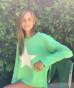 zip star green sweater