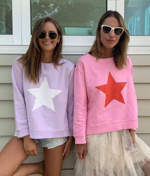 Lilac & White Star Sweatshirt