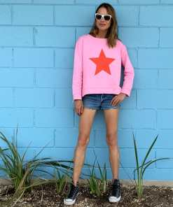 Pink Red Star Sweatshirt