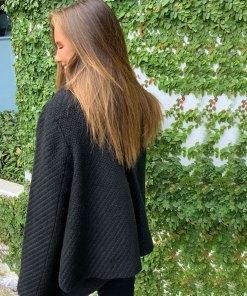 Black collar jacket