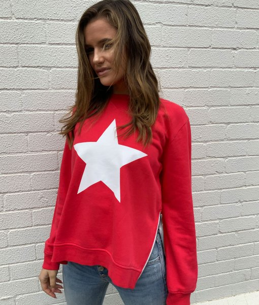 red sweater white star