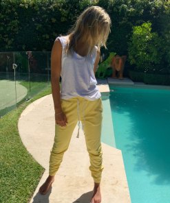 relaxed yellow trackpants