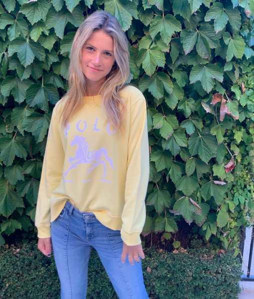 yellow polo sweater