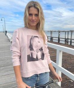 icon print sweater