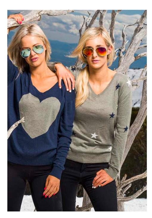 Khaki stars sweater
