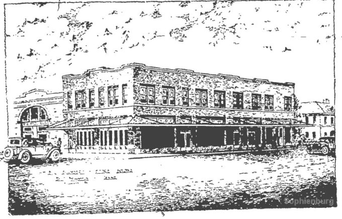 Conceptual drawing of the 1925 Blumberg Bldg. (now Crosswalk Coffee and offices)