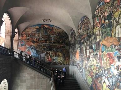 CDMX. Murales di Diego Rivera