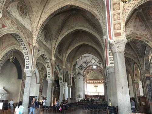L'interno di Santa Maria delle Grazie