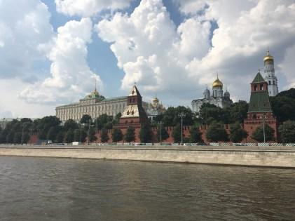 Mosca. Il Cremlino visto dalla Moscova