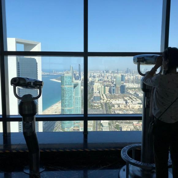 Abu Dhabi, observation deck at Etihad Towers