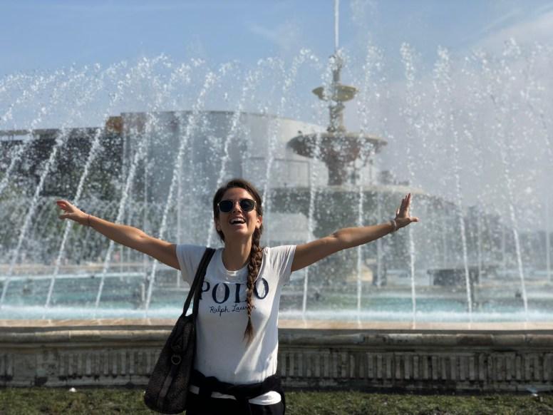Bucarest, fontane di Piazza Unirii