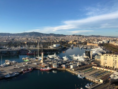 Barcelona, vista dal Teleferico Montjuic