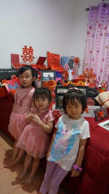 My nieces - NingNing, Lele, and Lala