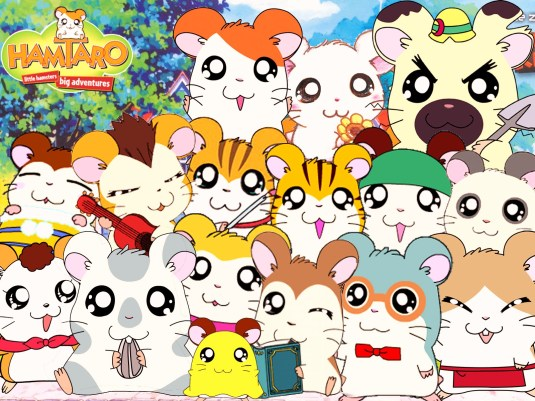 Pictures from the Hamtaro Cartoon