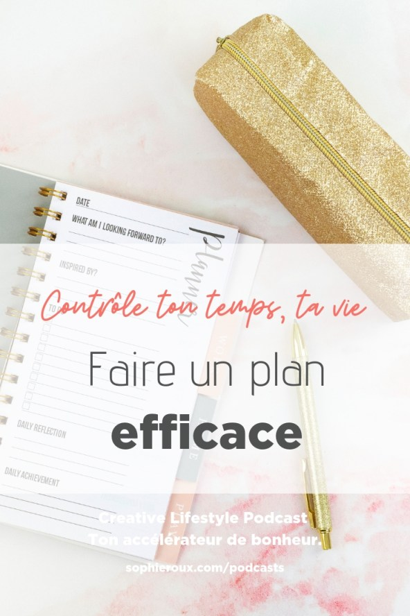 faire un plan efficace