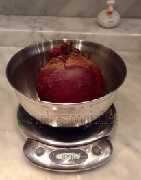 One beet was 1096 gram!