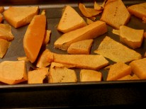 Roasted pumpkin pieces!
