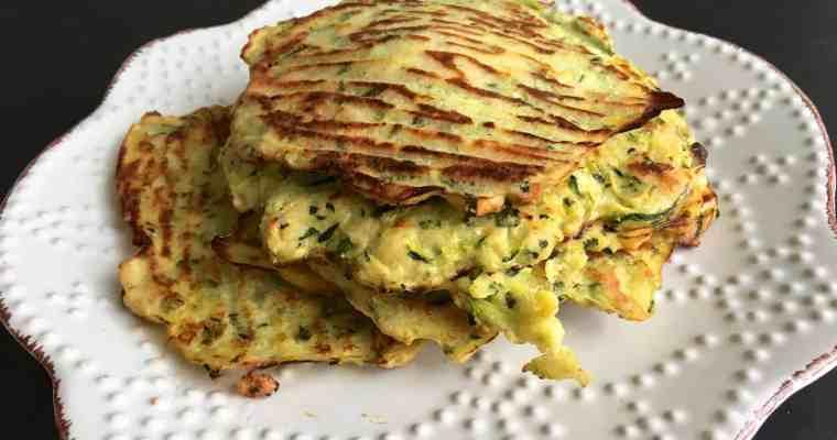 低碳櫛瓜煎餅 Low Carb Zucchini Pancakes- 淨碳水1g- 取代白飯降血糖