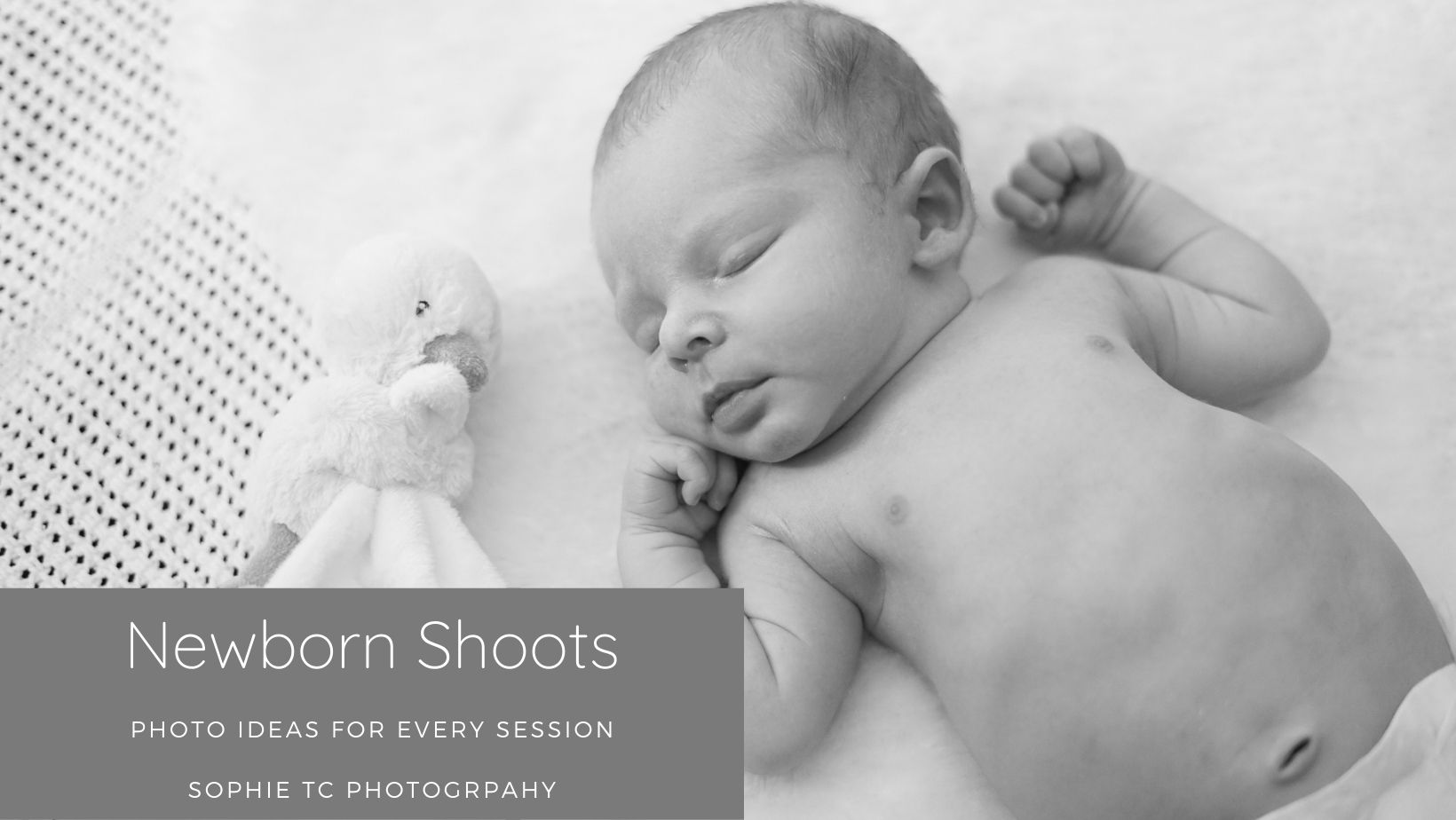 Sleeping baby on a newborn shoot