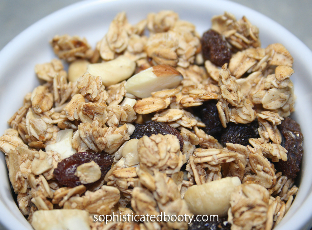 Healthy Homemade Granola Nutty Cinnamon Honey - Sophisticated Booty