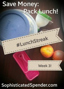 bag lunch, oranges, lunch streak, lunchstreak, pyrex, sophisticated spender, sophisticated spending