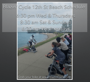 blazin cycle, spin, cycle, class, 12th street, beach, chicago