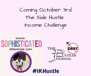 #1KHustle, side income, hustle, challenge, 1000, make extra money