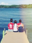 My sister's and I at the Lake on Memorial Day