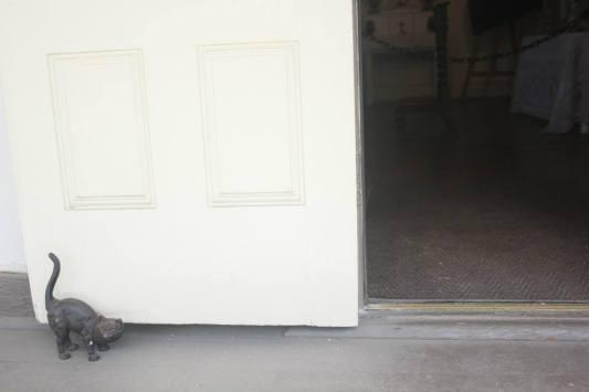 cat holding the door :D
