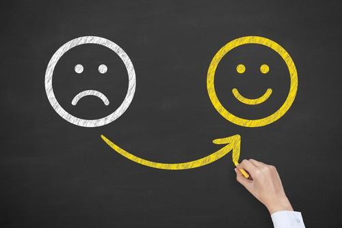 Changer d'émotion peur et paix