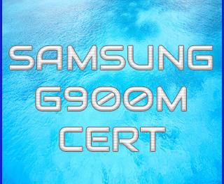 Como escribir certificado samsung G900M