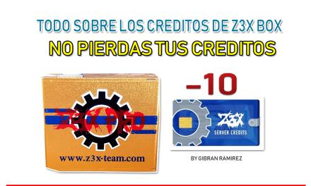 Creditos de Z3X box   como no perderlos