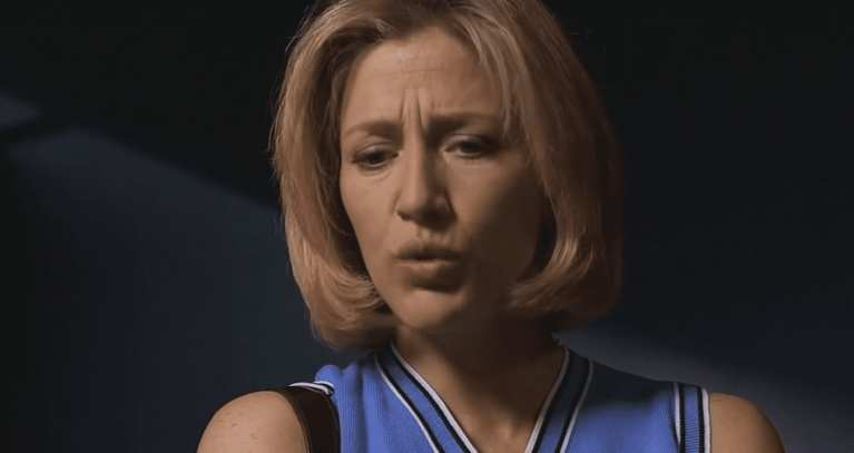 Carmela Soprano is telling Tony he's going to go to hell when he dies.