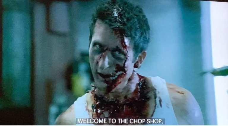 Scene in The Sopranos Cleaver Movie