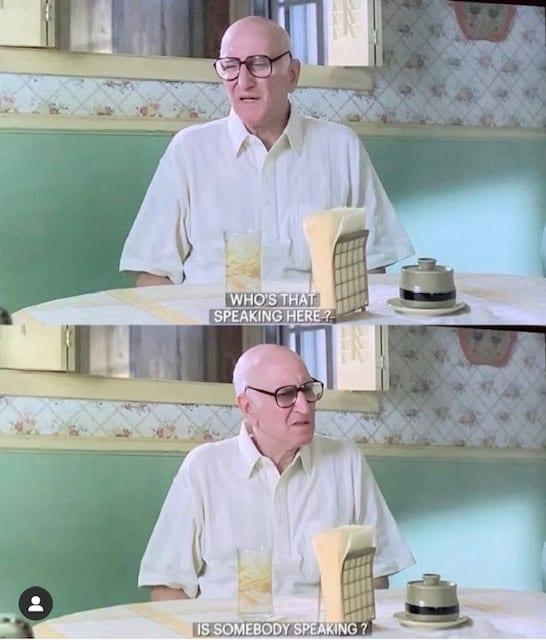 Junior Soprano talking in his kitchen