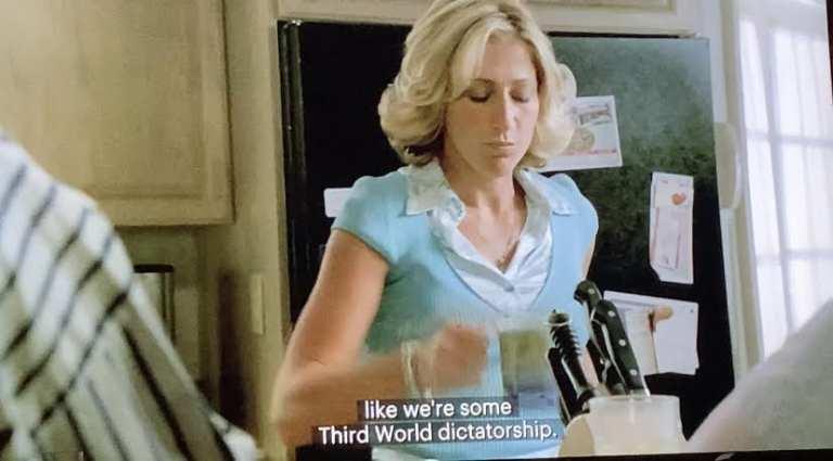 """Carmela Soprano in the kitchen, season 6, episode 6, """"Live Free or Die"""""""