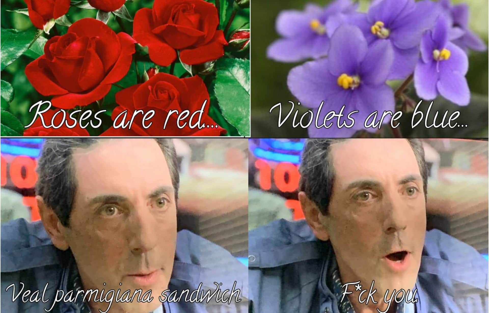Richie Aprile with roses and violets